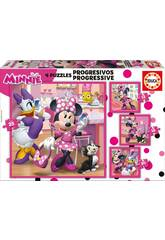 Puzzle Progressives 12-16-20-25 Minnie Happy Helpers Educa 17630