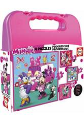 Puzzle Progressives Minnie 12-16-20-25 avec Maletín
