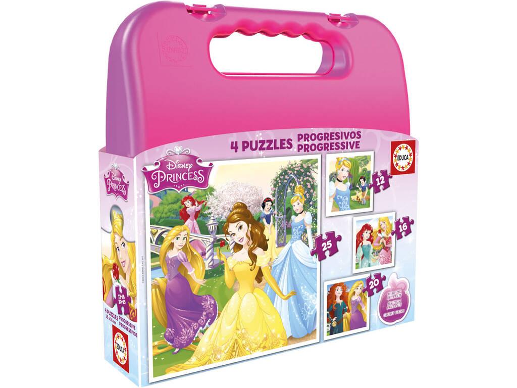 Puzzle Progresivos Princesas Disney 12-16-20-25 Educa 16508