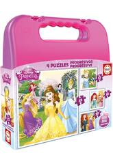 Puzzle Progressiv Prinzessinnen Disney 12-16-20-25 Educa 16508
