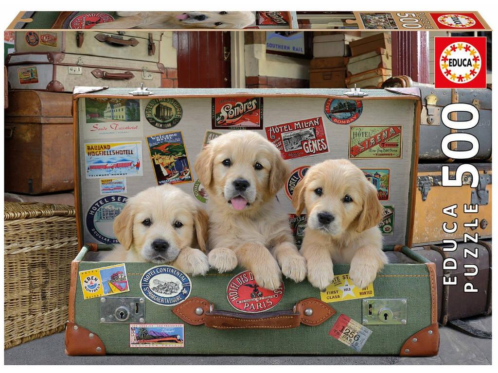Puzzle 500 Cuccioli in Valigia 17645