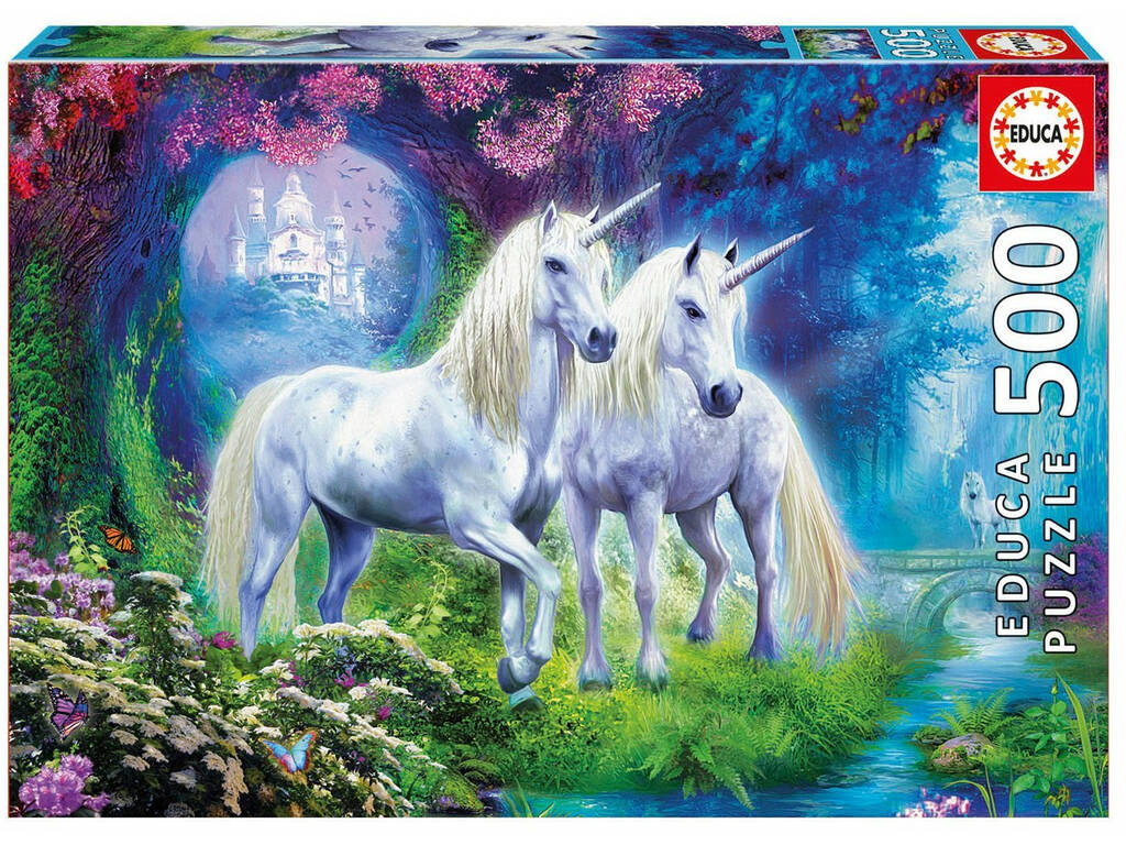 Puzzle 500 Unicornios En El Bosque 17648