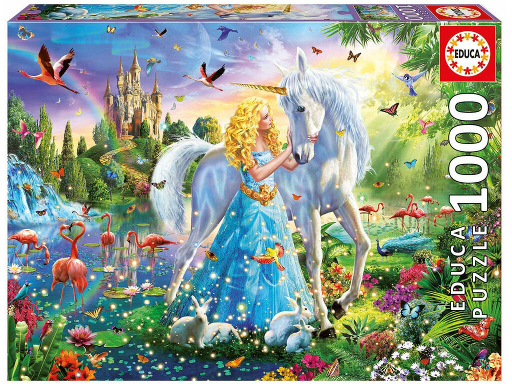 Puzzle 1000 La Princesa y El Unicornio Educa 17654