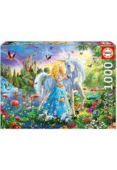 Puzzle 1000 A Princesa e O Unicórnio Educa 17654