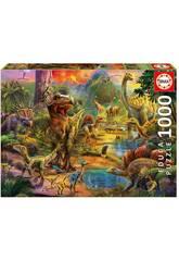 Puzzle 1000 Pays des Dinosaures Educa 17655