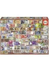 imagen Puzzle 1000 Billetes Del Mundo Educa 17659