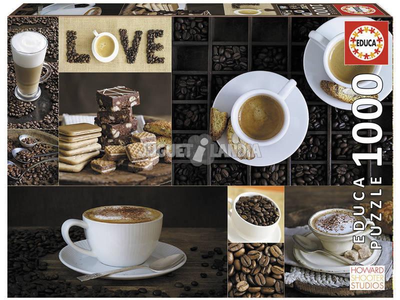 Puzzle 1000 Café Educa 17663