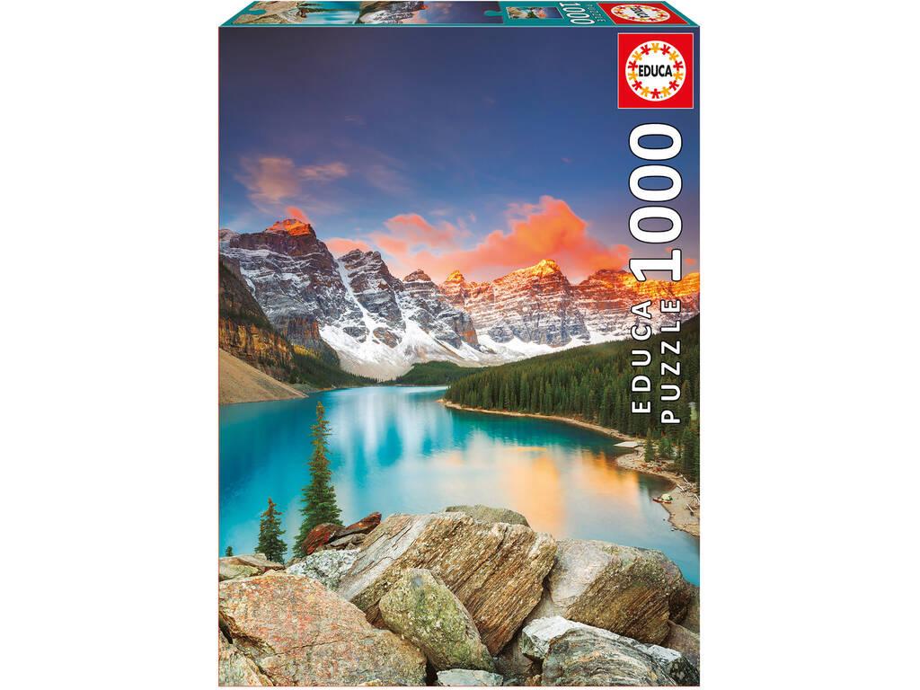 Pezzle 1000 Lago Moraine, Banff National Park, Canada Educa 17739