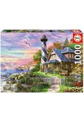 Puzzle 1000 Phare dans Rock Bay Educa 17740