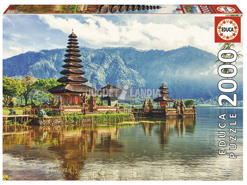 Puzzle 2000 Templo Ulun Danu, Bali, Indonesia Educa 17674