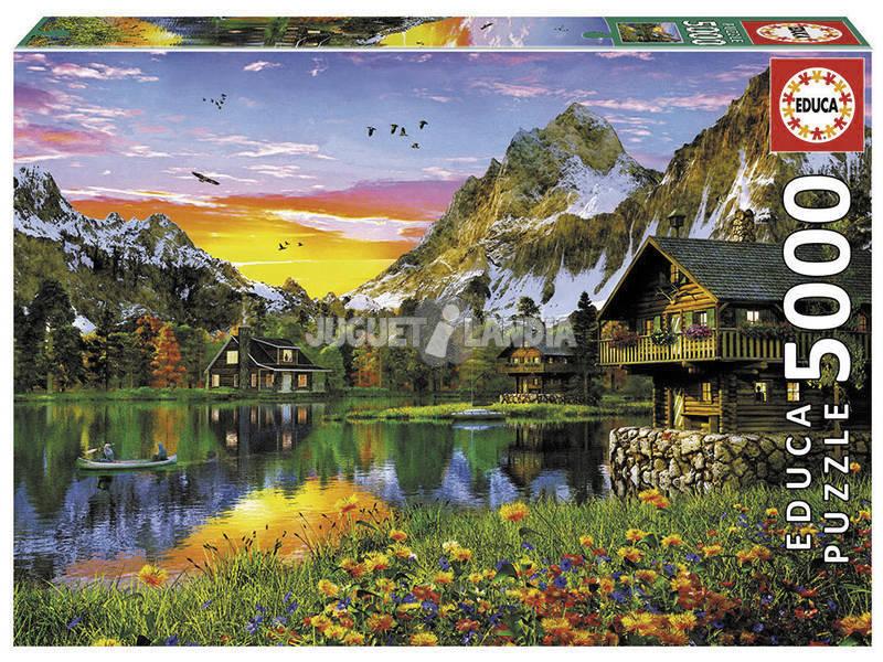 Puzzle 5000 Lago Alpino Educa 17678