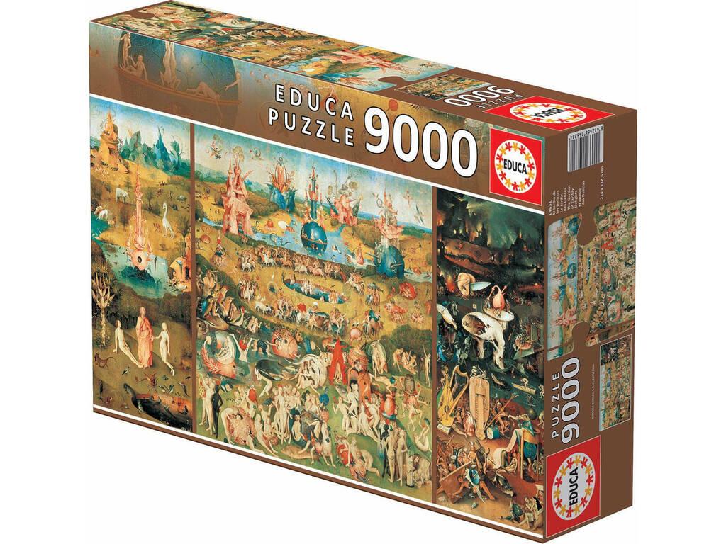 Puzzle 9.000 O Jardim das Delícias Educa 14831