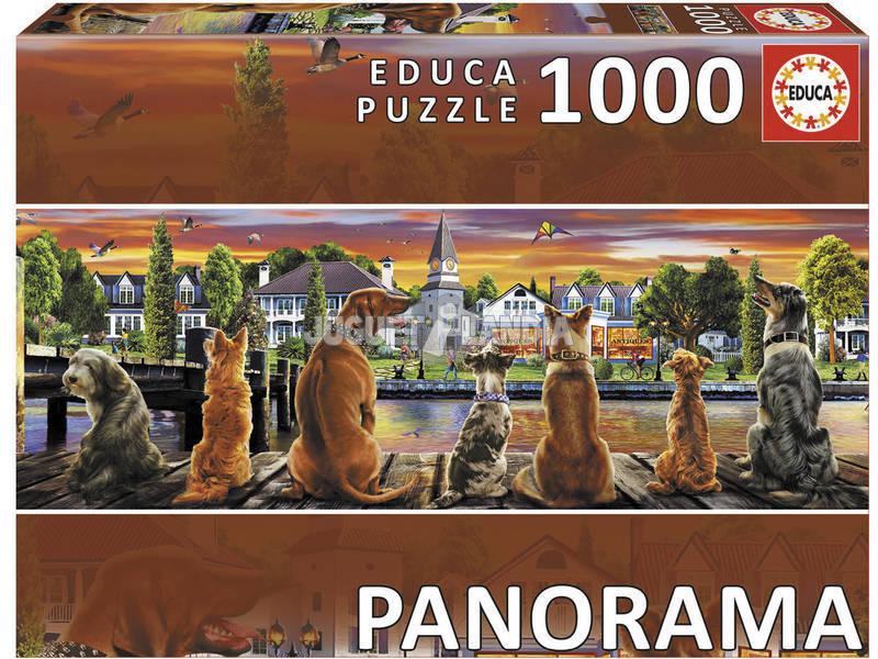 Puzzle 1000 Panorama Cani sul Molo Educa 17689