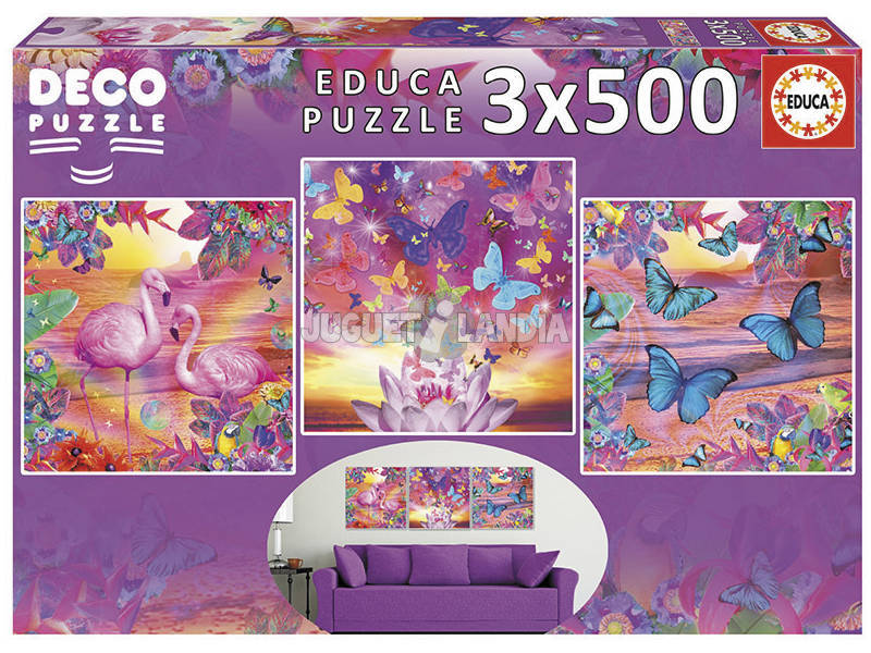 Puzzle 3x500 Vista Tropicale Educa 17688