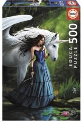 imagen Puzzle 500 Estanque Encantado, Anne Stokes Educa 17652