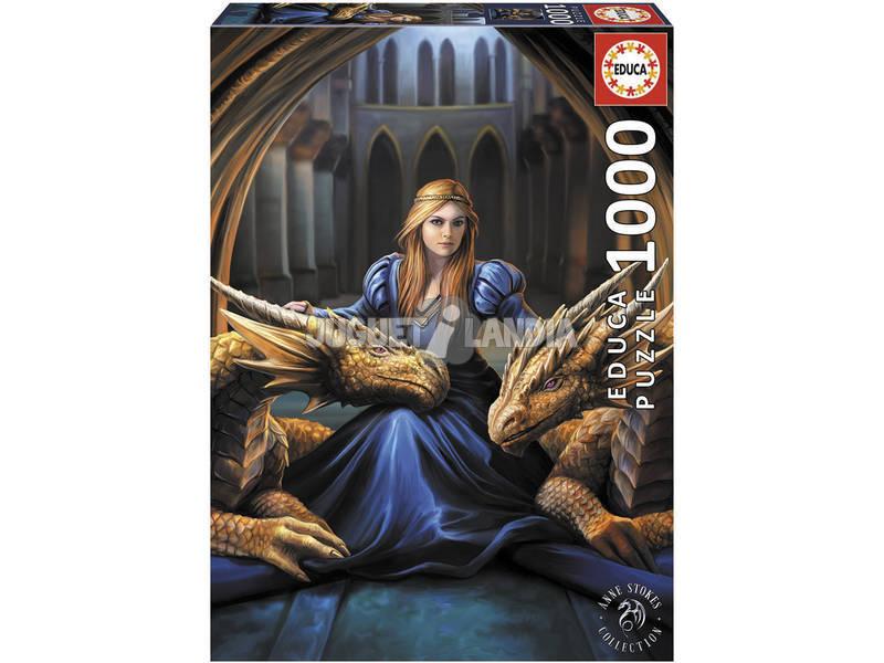 Puzzle 1000 Feroce Lealtà di Anne Stokes Educa 17692