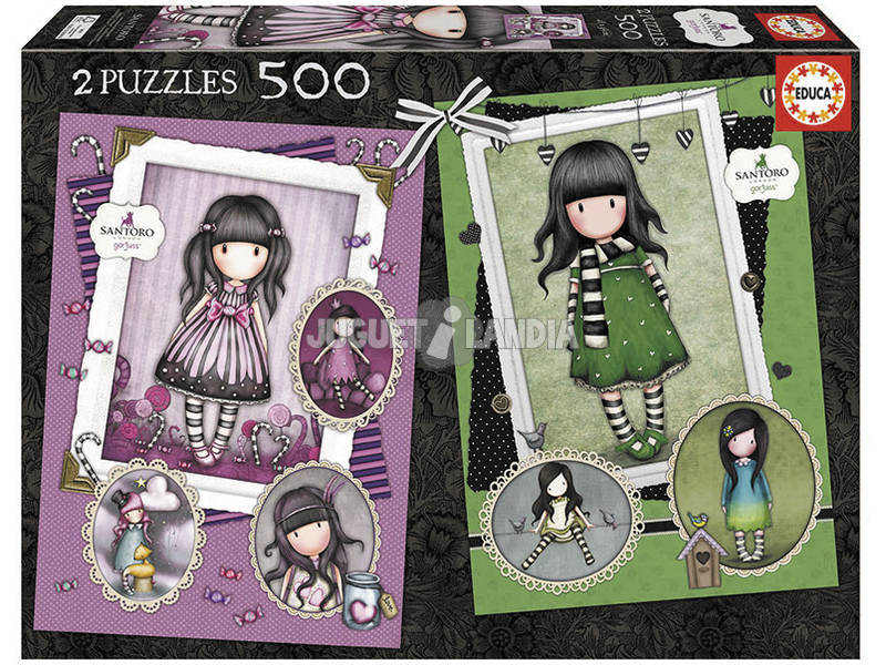 Puzzle 2X500 Sugar And Spicy + The Scarf Gorjuss Educa 17687