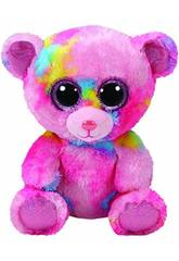 Peluche Frankie Ours Rose Multicouleur 15 cm TY 36899TY