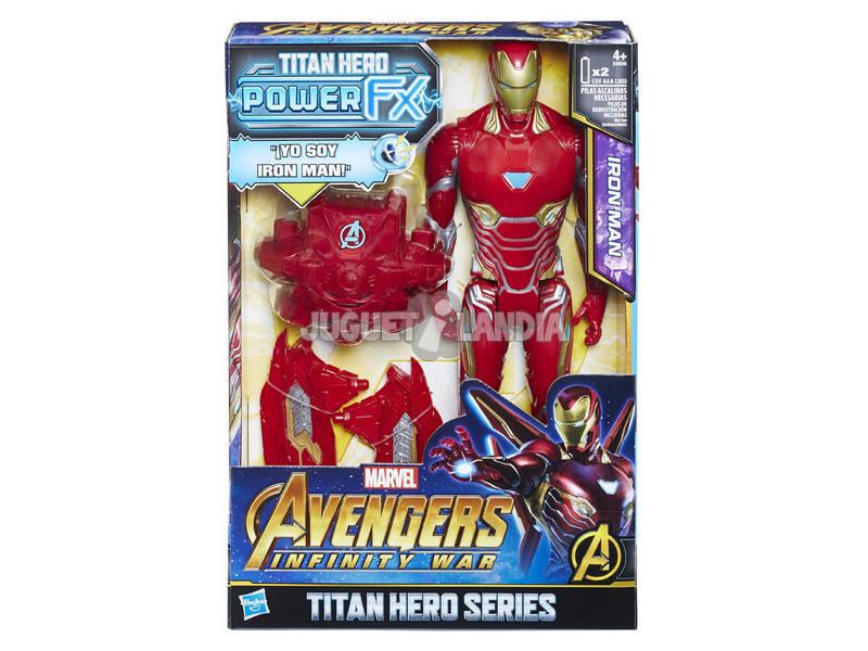 Vingadores Iron Man Figura 30 cm. Y Mochila Potência FX Hasbro E0606