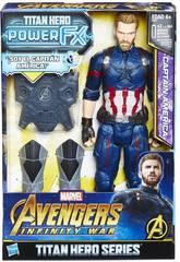 Avengers Figurine Captain America 30 cm et Sac à Dos Power FX Hasbro E0607