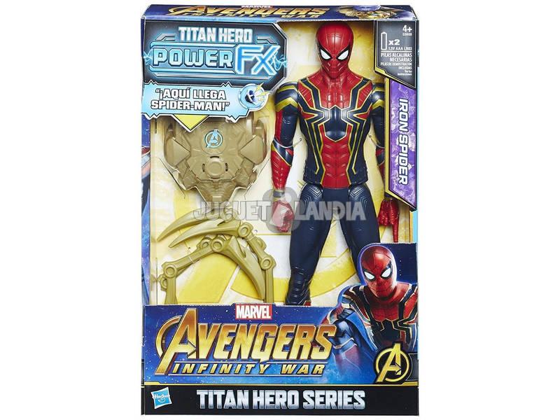 Avengers Figura Iron Spider 30 cm. Y Mochila Power FX Hasbro E0608