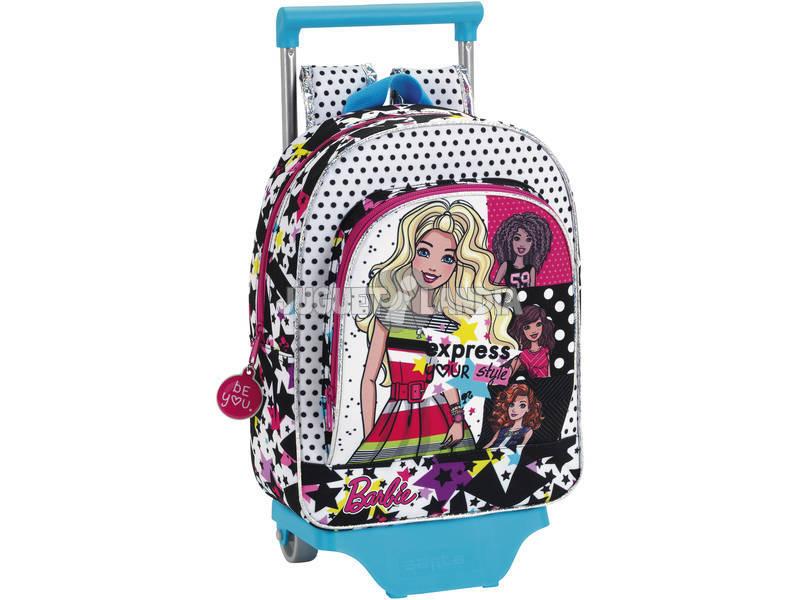 Barbie Mochila Infantil con Carro Safta 611710020