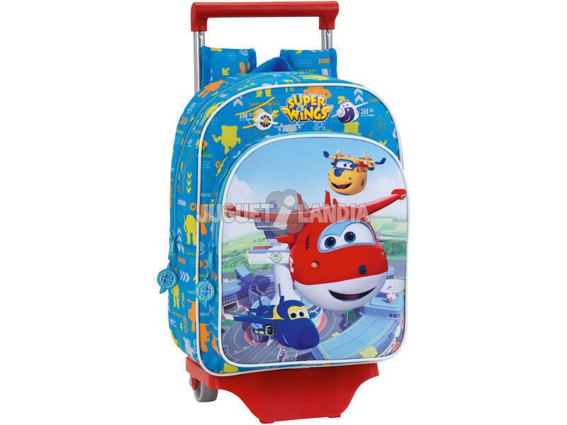 Mochila Infantil Super Wings com Carro Safta 611760020