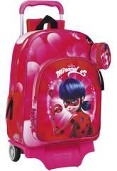Ladybug Mochila con Carro Safta 611712160