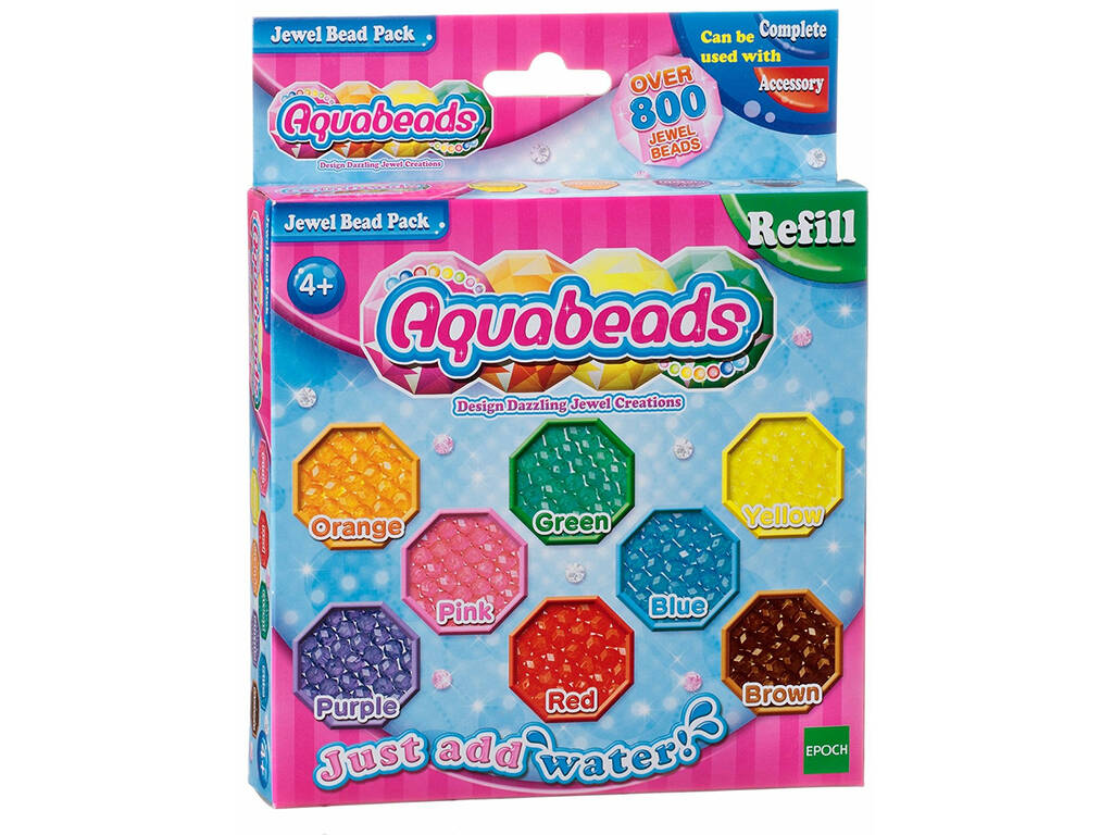 Aquabeads Pack Abalorios Brillantes Epoch Para Imaginar 79178