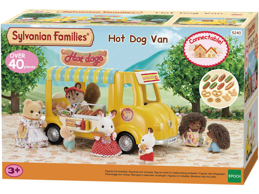 Famílias Sylvanian Van Cachorro Hot Epoch To Imagine 5240