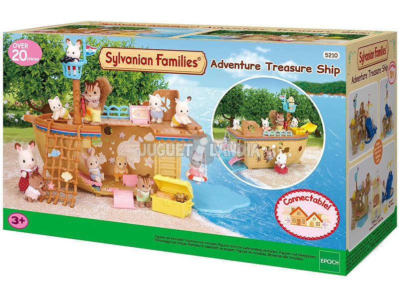 Sylvanian Families Barco del Tesoro Epoch Para Imaginar 5210