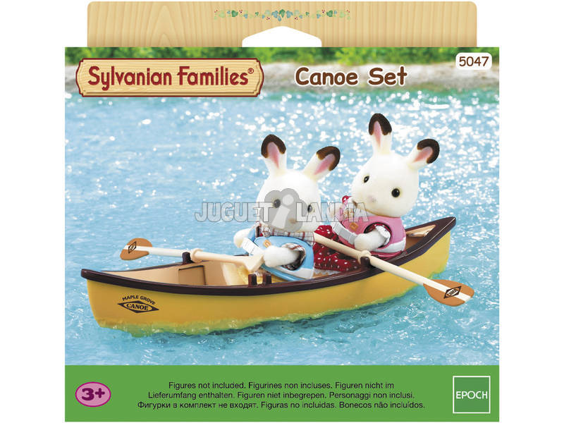 Famílias Sylvanian definir época de canoa para imaginar 5047