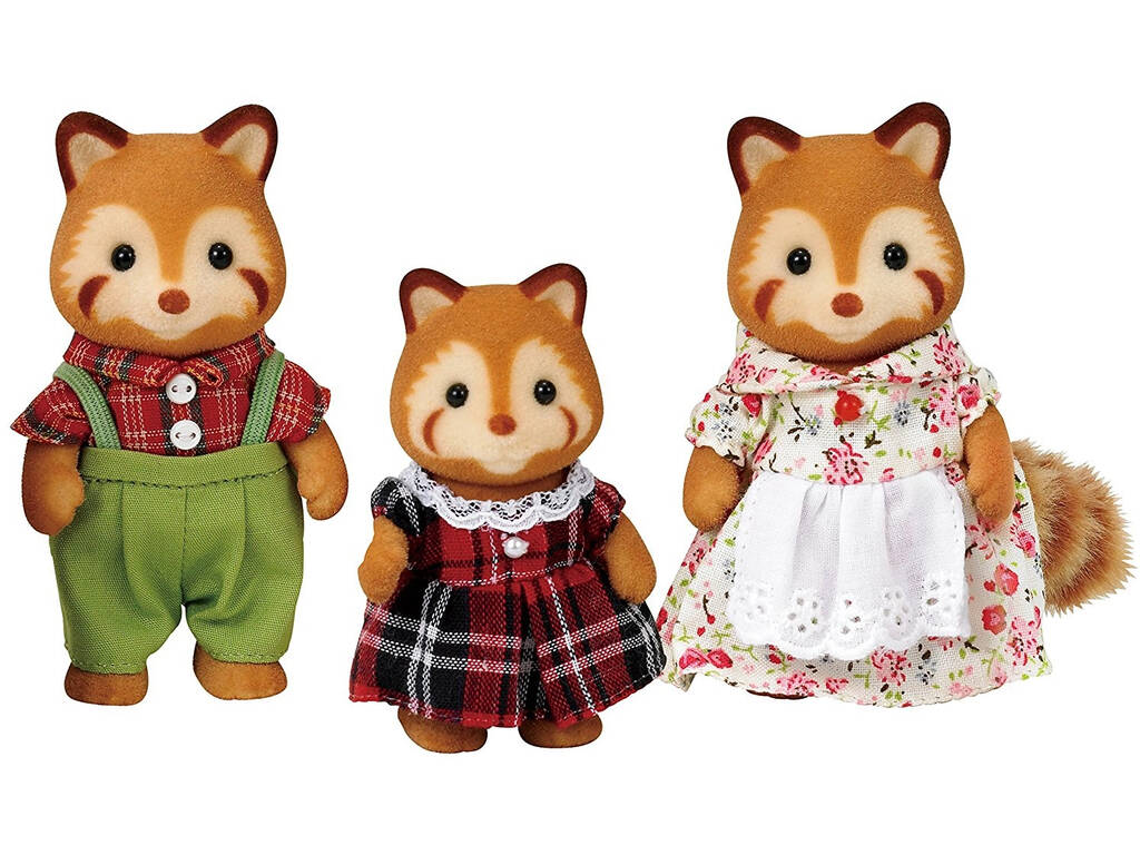 Famílias Sylvanian Red Pandas Epoch To Imagine 5215