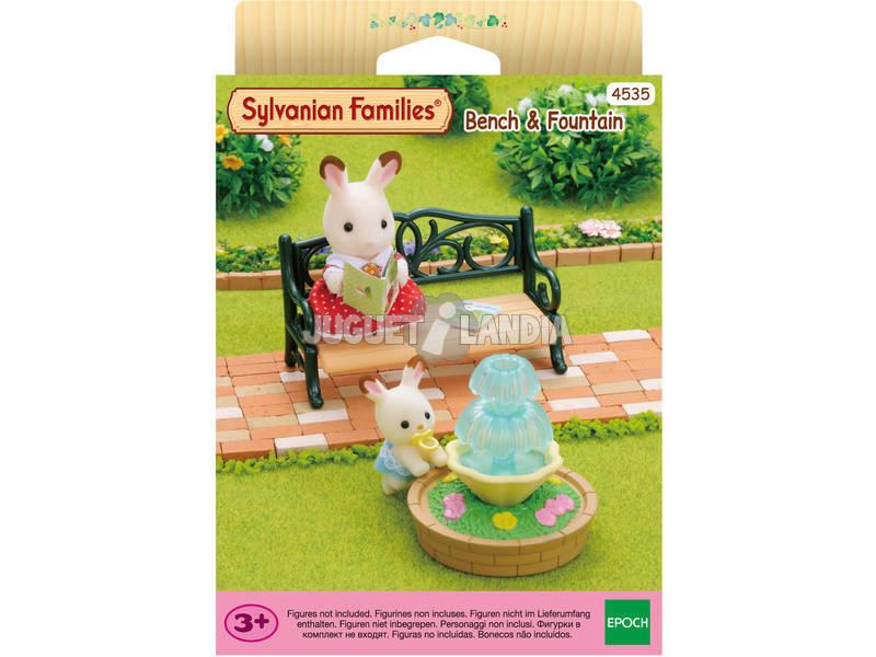 Sylvanian Families Set Banco y Fuente Epoch Para Imaginar 4535
