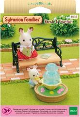 Sylvanian Families Banc de Jardin et Fontaine Epoch d'Enfance 4535