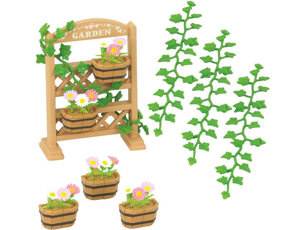 Sylvanian Families Set Decoración Jardín Epoch Para Imaginar 5224
