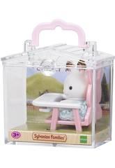 Sylvanian famílias bebê coelho chocolate cadeira bebê época para imaginar 5197