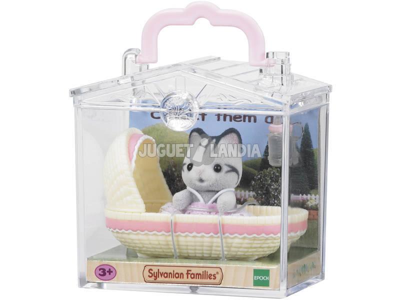 Sylvanian Families Bebé para Llevar Gato en Cuna Epoch Para Imaginar 5198
