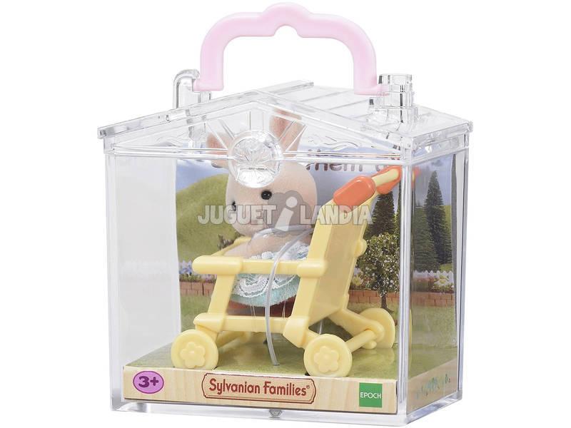 Famílias Sylvanian Baby Carry Coelho em Epoch Stroller To Imagine 5200