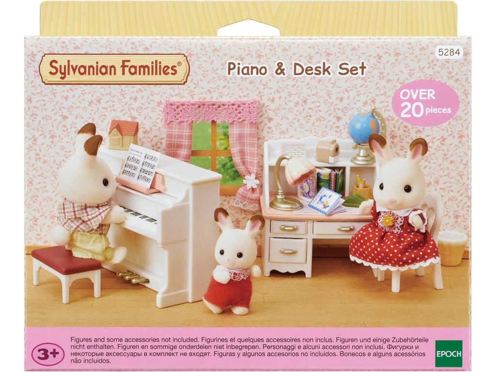 Sylvanian Families Familia Set Piano y Escritorio Epoch Para Imaginar 5284