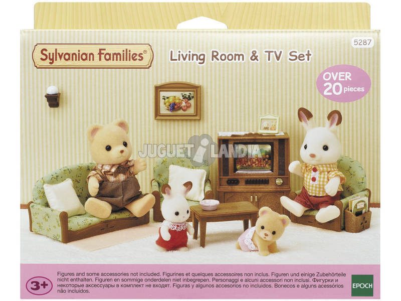 Sylvanian Families Set Salón y TV Epoch Para Imaginar 5287