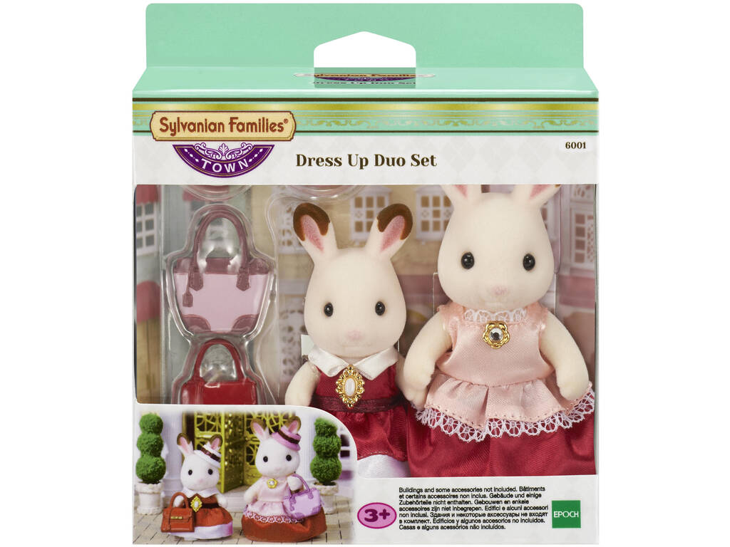 Sylvanian Set 2 Figuren Luxus-Kleider Epoch Für Imagination 6001