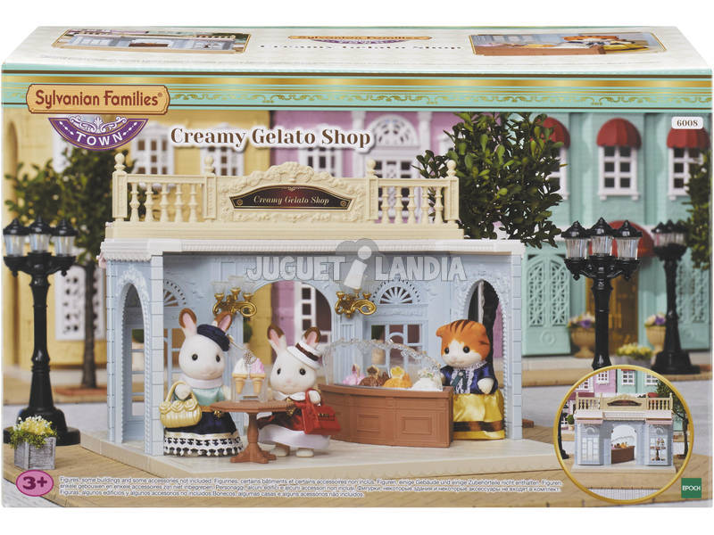 Sylvanian Town Series Ice Cream Shop época para imaginar 6008