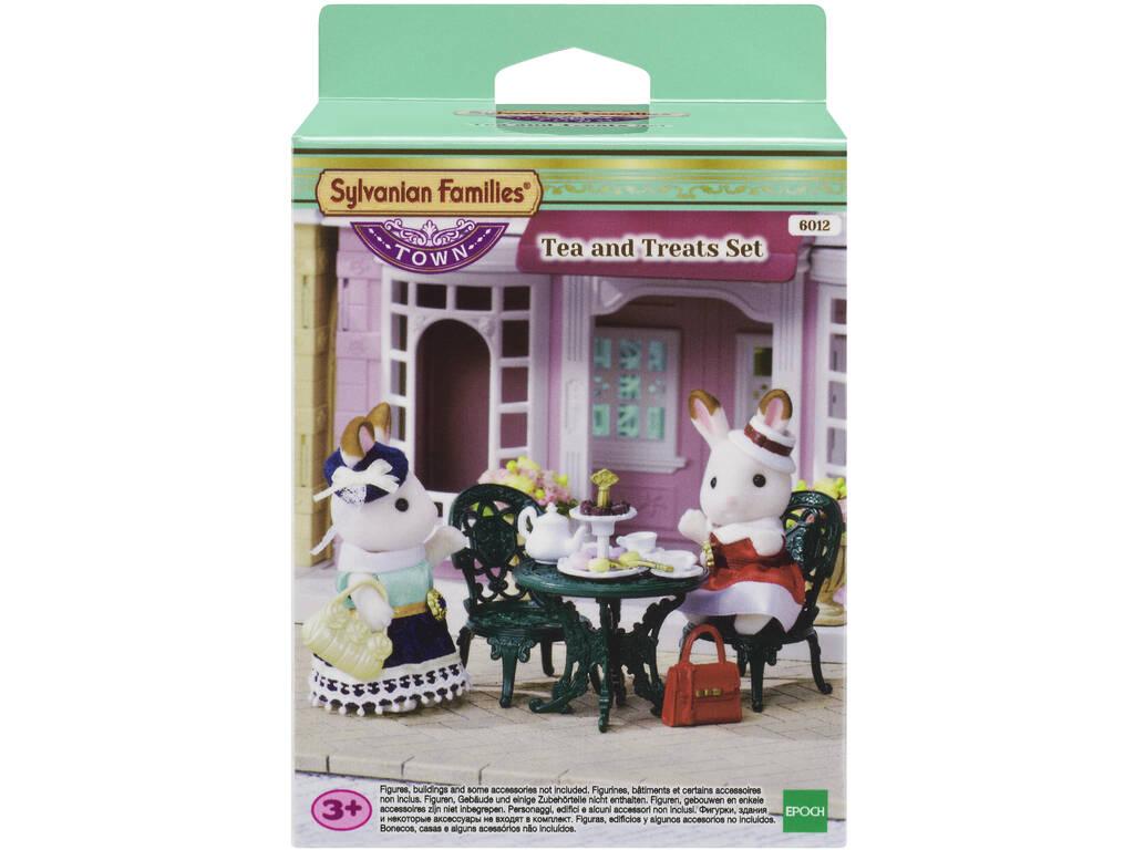 Série de cidade Sylvanian Epoch Tea Set para imaginar 6012