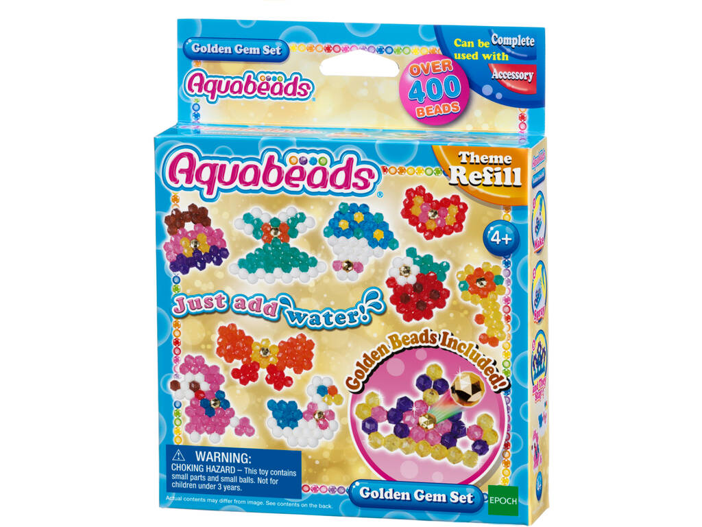 Aquabeads Set Gemas Doradas Epoch Para Imaginar 31048