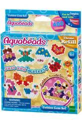 imagen Aquabeads Set Gemas Doradas Epoch Para Imaginar 31048