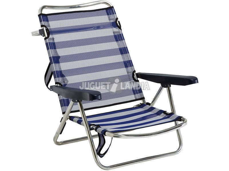 Cadeira de Praia Fibreline de Alumínio Dobrável com Asa Alco 607ALF