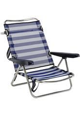 Chaise de Plage Pliante Aluminium Fibreline avec Poignée Alco 607ALF