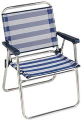 Chaise de Plage Pliante Aluminium Fibreline Alco 631ALF