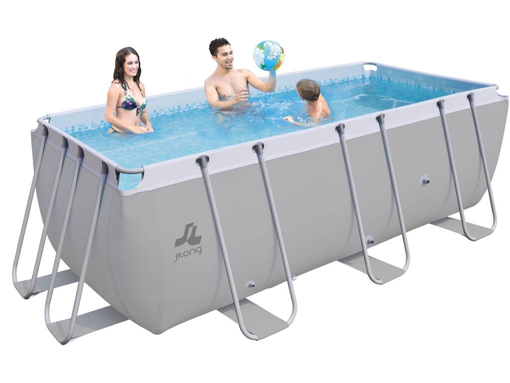 Piscina desmontable 400x200x99 cm jilong 17726eu for Juguetilandia piscinas desmontables